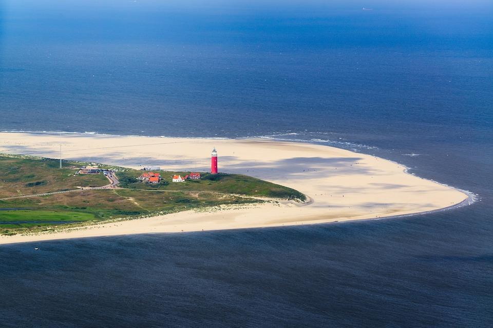 Texel, Lighthouse, Beach, Sea, Sand, North Sea