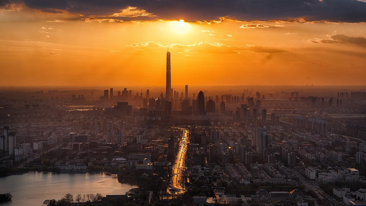 tianjin, twilight, city #2185510 w salonie