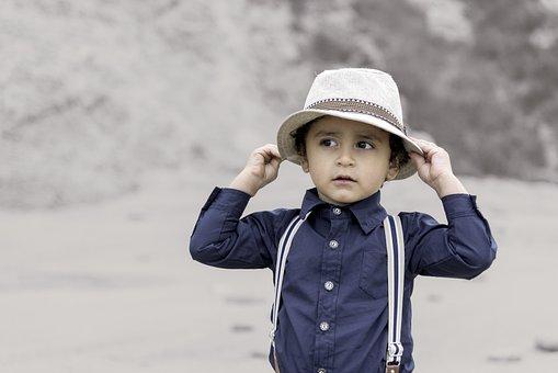 Niño, Retro, Feliz, Diseño, La Infancia