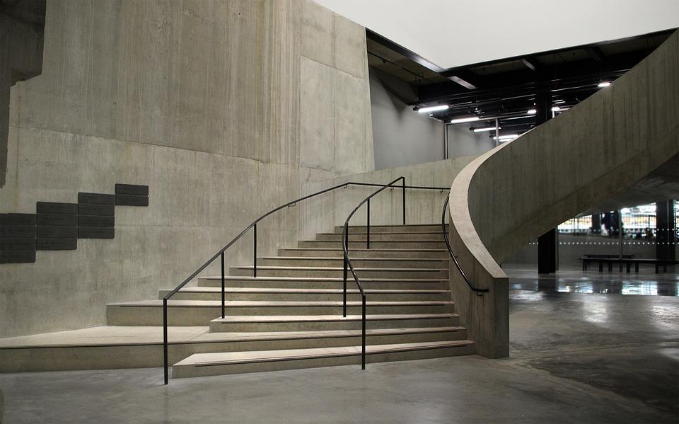 Londen, Tate Modern, Galerij, Trap, Beton