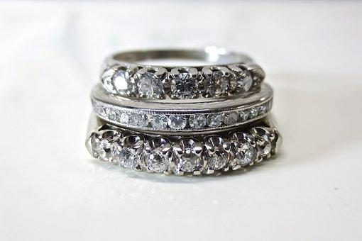 Diamond, Platinum, White, Gold, Wedding