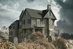 house, cemetery