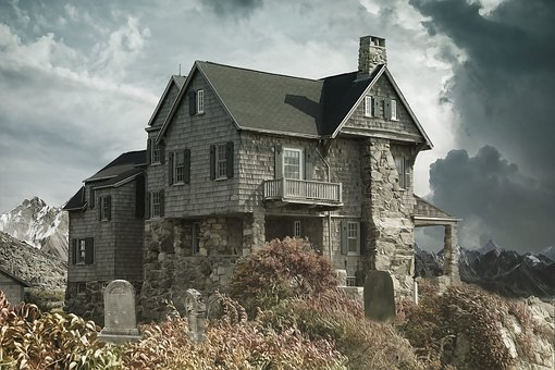 House, Cemetery, Haunted House