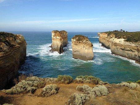 Australia, Port Cambel, Sea, Blue, View