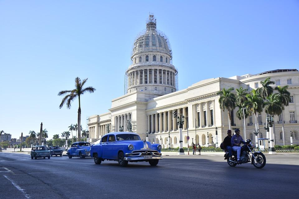 Kuba, Hawana, Karaiby, Stary, Habana, Budynku, Podróży