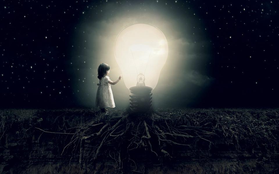 Luce, Idea, Ragazza, L'Immaginazione, Illuminazione