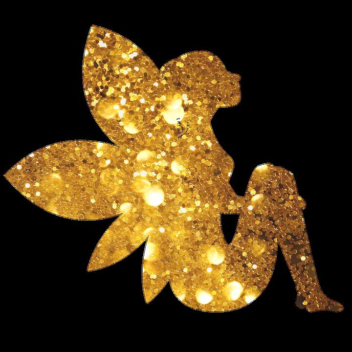 Fairy, Sparkling, Glitter, Gold, Fairies Magical, Magic