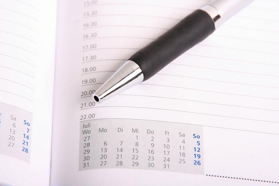 Tiempo, Plan De, Oficina, Nota, Cita, Horario, Escribir