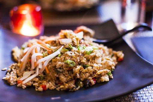 ryż z warzywami jako danie obiadowe