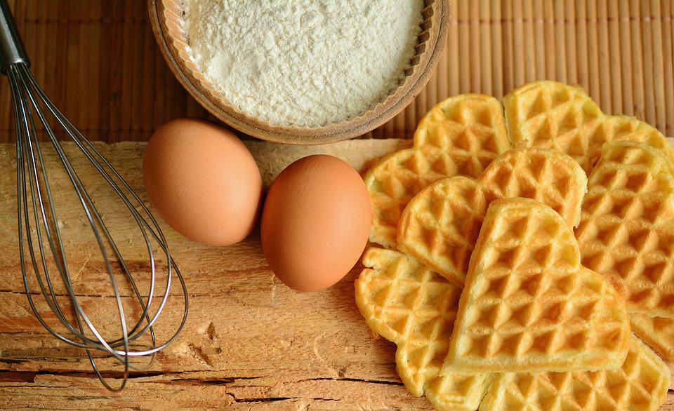 Waffles, Waffles Bake, Ingredients, Egg, Scrambled Eggs