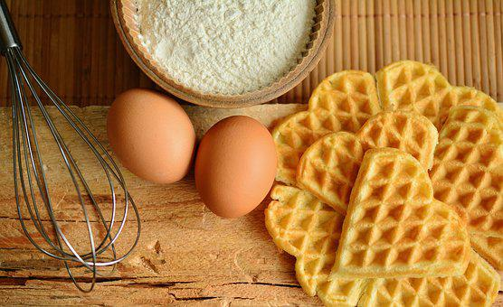 Waffle, Gözleme, Malzemeler, Yumurta