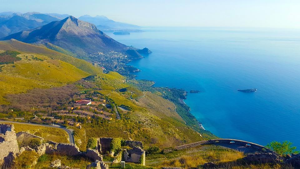 Maratea, Basilicata, tenger, táj, Olaszország, kék