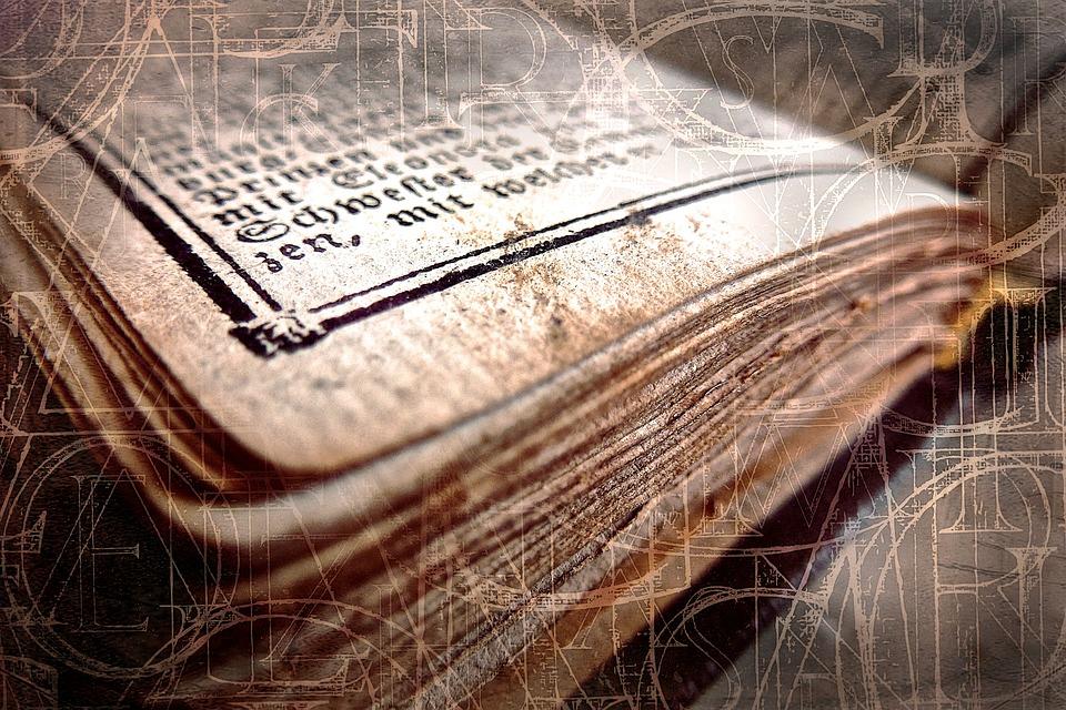 本, アンティーク, 古い, 塞ぎます, 古書, 着用, フォント, 黄色, 使用, 古物, 歴史的に, 紙