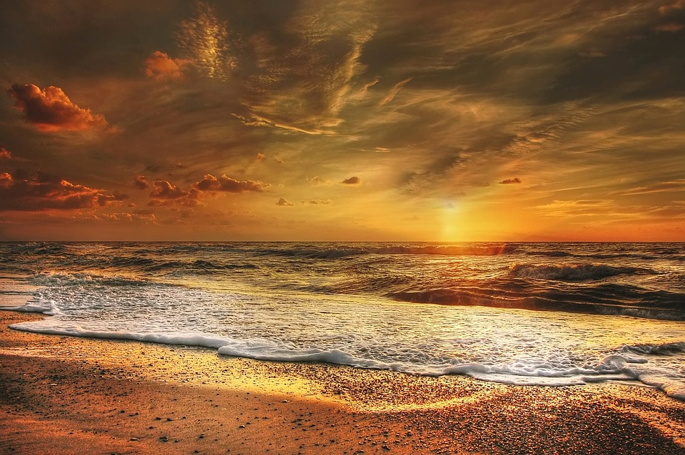 Strand nordsee sonnenuntergang  Kostenloses Foto: Sonnenuntergang, Nordsee, Meer - Kostenloses ...