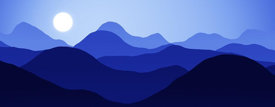 banner mountains night free image on pixabay