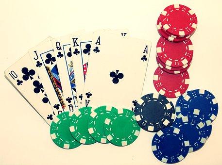 Poker, Casino, Royal Flush, Card Game
