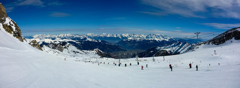 Panorama, Skiing, Kitzsteinhorn, Mountains, Snow