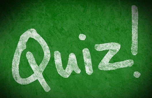 クイズ, テスト, 学校, 学ぶ, 教える, 黒板, 緑色の基板, ボード, 緑