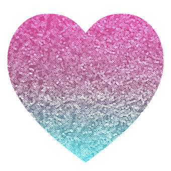 glitter pink blue heart sparkle