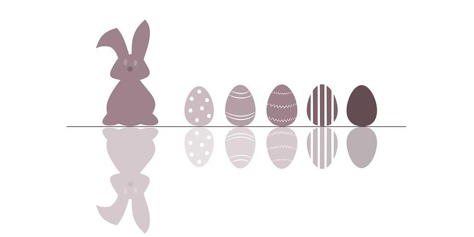 Ostern, Hase, Eier, Osterhase, Frühling, Grußkarte
