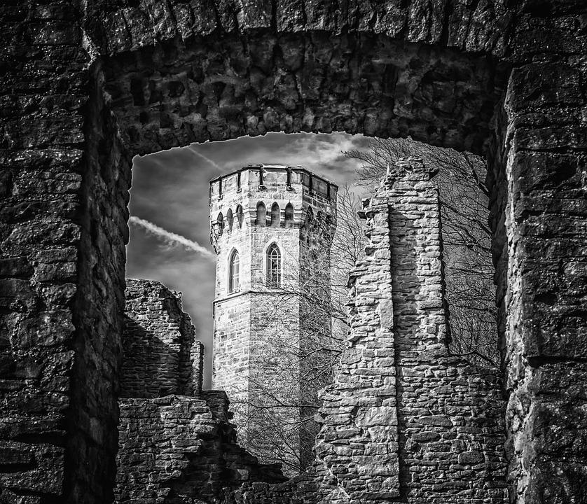 Замок, Башня, Средние Века, Рыцарский Замок, Разорение