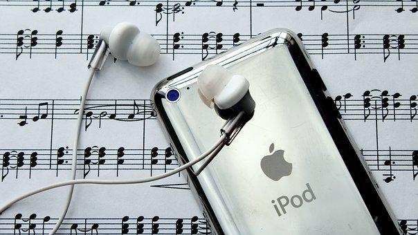 Ipod, Headphone, Musik, Melodi