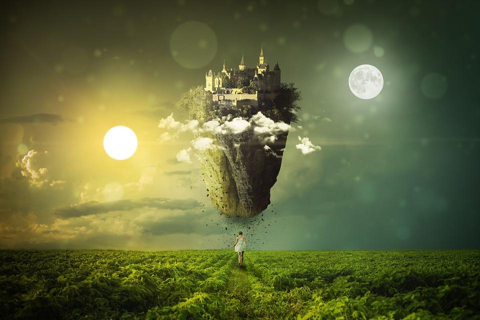 池, 太陽, ムーン, 風景, 神秘的な, 雲, 自然, 気分, 空, 影, 自然の光景, 日, 夜