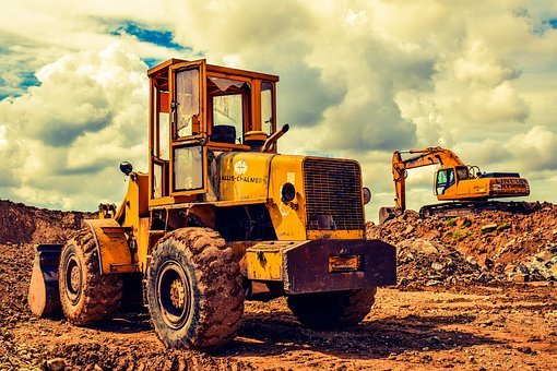 Bulldozer, Excavator, Heavy Machine