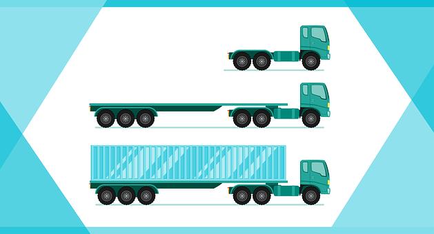 長貨物のトラック, 車両, 車, 貨物, トランスポート, 交通, トラック