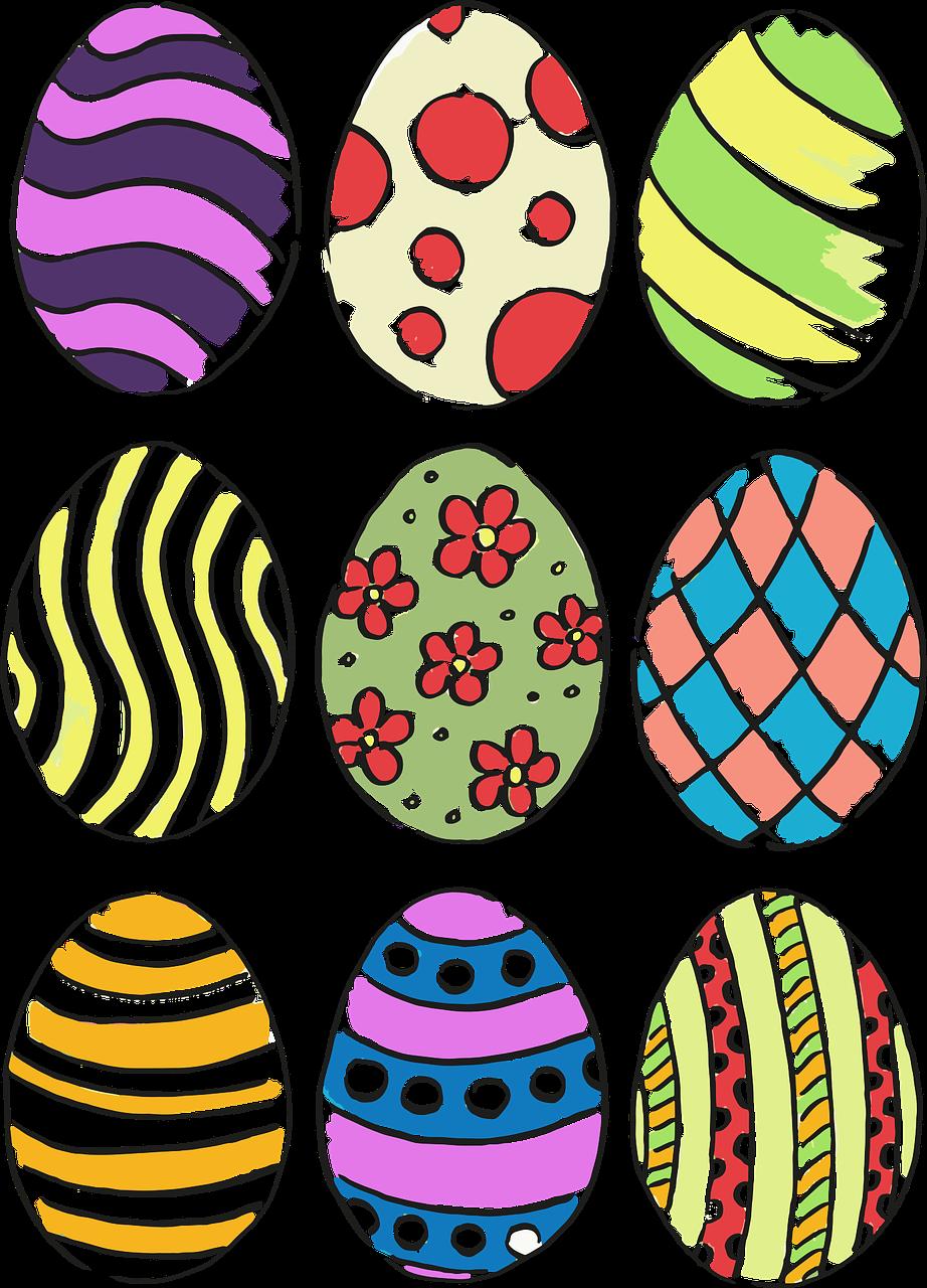 Картинки детские пасхальные яйца