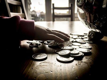 通貨, お金, ドル, お支払い, 部品, 貯蓄, 富, キャッシュ, 手