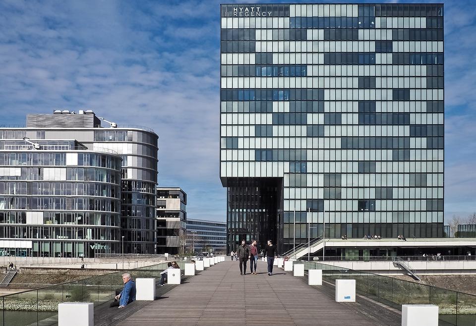 무료 사진: 건축물, 현대 건축, 도시, 현대, 건물, 뒤셀도르프 ...