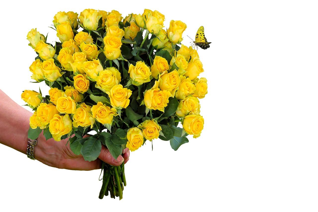 Букет цветов знак уважения