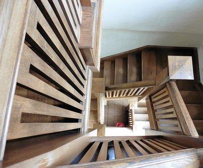 escalones de madera escaleras
