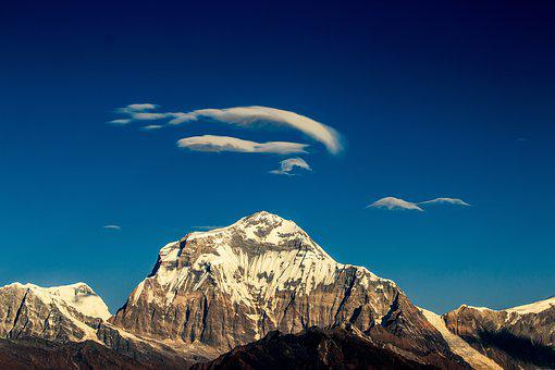 Mountain, Dhaulagiri, Himalaya, Nature
