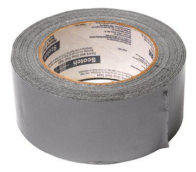 Duct Tape, Tape, Adhesive, Sticky, Gray