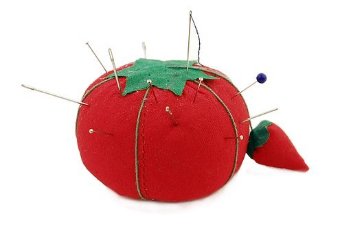 Pincushion, Tomato, Needles, Sewing, Sew