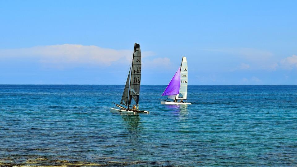 Katamaran segeln sport  Kostenloses Foto: Katamaran, Segelboot, Meer, Segeln - Kostenloses ...