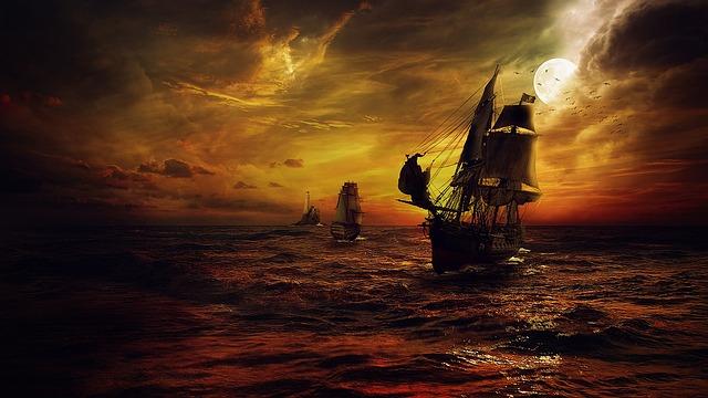 free photo  ship  strom  sea  night  fantasy - free image on pixabay