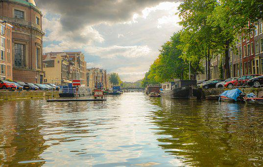 Amsterdam, Canal, Netherlands, Boat