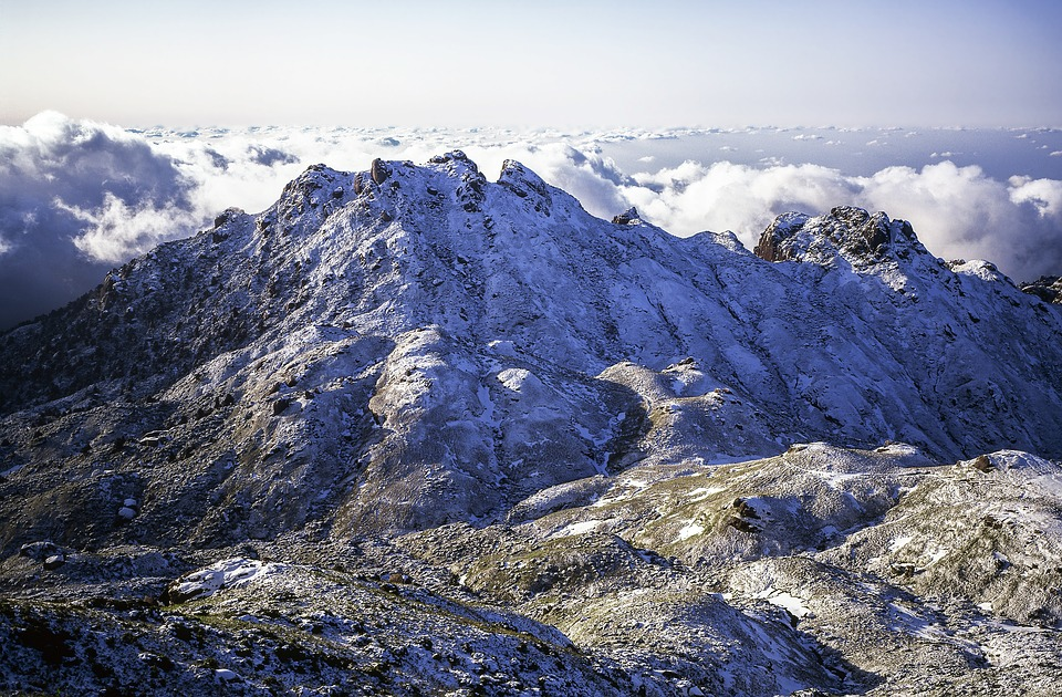 Mountain, Snow, Cloud, 永田岳, Yakushima Island