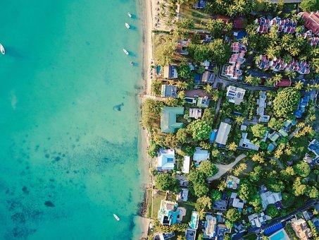 Aeriel Aerial Drone Beach Sand Water Ocean