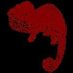 chameleon, droll, polka dot