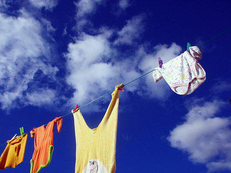 Clothes Line, Wash Clothes, Laundry, Dry