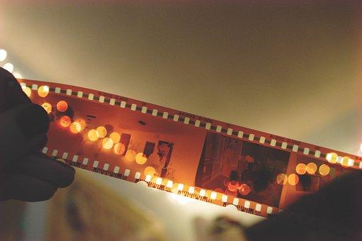 映画, カメラ, 映画館, 機器, 写真, 撮影, 負, ストリップ, 古い