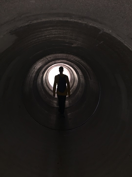 Tunnel, Tunnel Tube, Light At The End Of The Tunnel