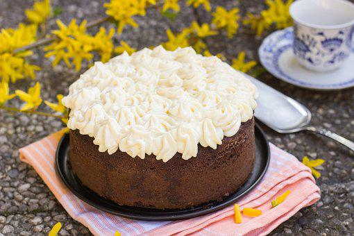 Cake Chocolate Cream Whipped Cream Eggnog