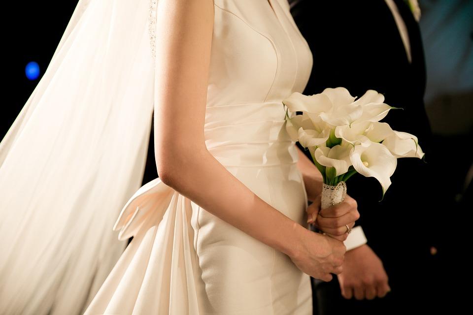 Wedding, Veil, The Bride, Bouquet