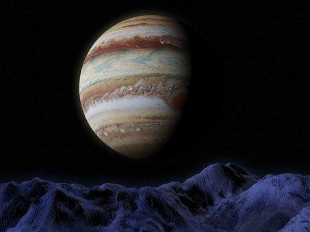Jupiter, Ganymede, Space, Astronomy