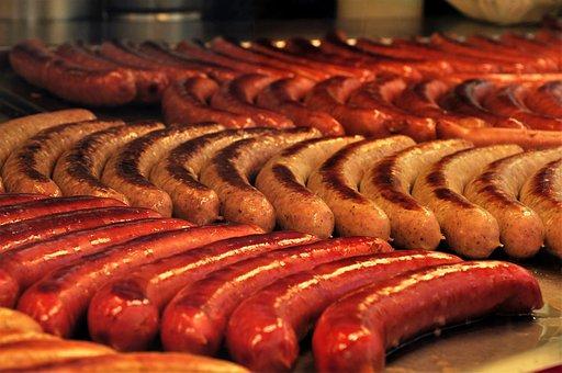 Bratwurst, Grill Sausage, Barbecue